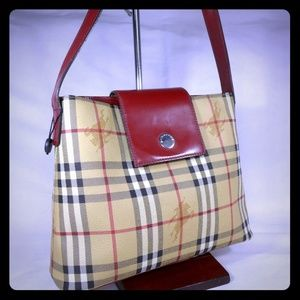 AUTHENTIC VINTAGE BURBERRY HAYMARKETCHECK HOBO BAG
